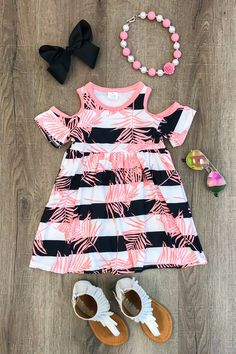 Infant Baby Girls Clothes Pink Top Dress Off-shoulder Party Gown Dress Sundress Outfits Niños, Baby Outfits, Toddler Outfits, Kids Outfits, Little Girl Outfits, Little Girl Fashion, Toddler Fashion, Kids Fashion, Latest Fashion