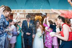 orthodox wedding rise throwing happiness couple Syros lafete