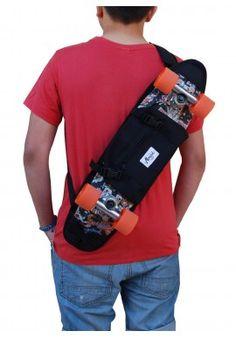 """24c3e55c3082 Skateboard Shoulder Bag 23"""" Black Skateboard Backpack"""