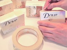 Upcycle cookie boxes idea: Alma Stoller: how to make a soap box canvas