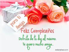 feliz cumpleaños amiga flores  de rosas