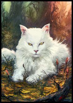 "Spirit Totem Animals:  ""Cat,"" by Peter-Ortiz, at deviantART."