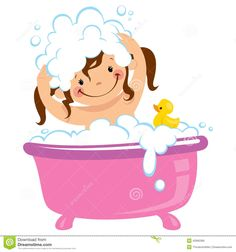 Baby kid girl bathing in bath tub and washing hair Clipart Baby Cartoon, Cute Cartoon, Best Bath Toys, Kids Girls, Baby Kids, Bath Girls, Soap Bubbles, Free Coloring Pages, Health Education