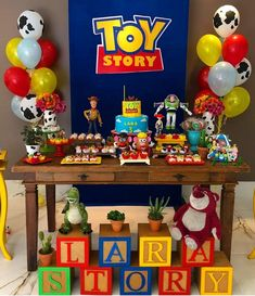 Fiesta de Toy Story 4 - Toys for years old happy toys Toy Story Dulceros, Toy Story Baby, Toy Story Theme, Toy Story Cakes, Baby Boy Birthday, Toy Story Birthday, 2nd Birthday, Birthday Ideas, Anniversaire Woody