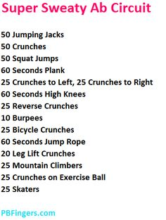 Ab Circuit Workout
