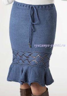 вязаная юбка годе (спицы)