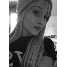 Ariana Grande Goes Hannah Montana with Blonde Wig ❤ liked on Polyvore featuring hair