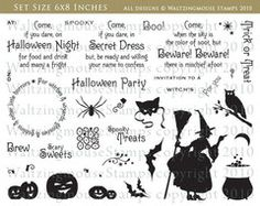 Halloween Party stamp set