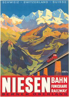 Niesen, Berner Oberland, Switzerland 1930 by Otto Ernst