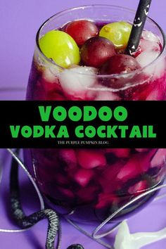 Our Voodoo Cocktail made with vodka, vanilla liqueur, and red grape juice is perfect for any Halloween themed get-togethers you are planning! And if you're not, this deep red cocktail is perfect to enjoy on those cold fall nights! #HalloweenCocktails #ThePurplePumpkinBlog Cocktails Made With Vodka, Halloween Cocktails, Vodka Cocktails, Easy Cocktails, Fun Drinks, Halloween Party, Vanilla Liqueur, Vanilla Syrup
