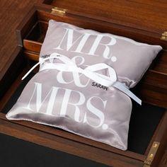 Mr. & Mrs. Ring Bearer Pillow