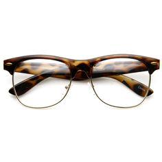 587283a856 Classic Dapper Vintage Horned Rim Clear Lens Glasses 8770