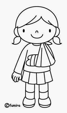 I am wearing a cast so that my arm can get better. Animal Coloring Pages, Colouring Pages, Coloring Pages For Kids, Coloring Books, Painting For Kids, Art For Kids, Social Stories Autism, Kids Corner, Digi Stamps