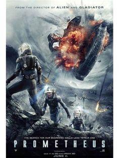 Prometheus.  Pretty good si fi.  Big suspense, thriller, exciting, scary.