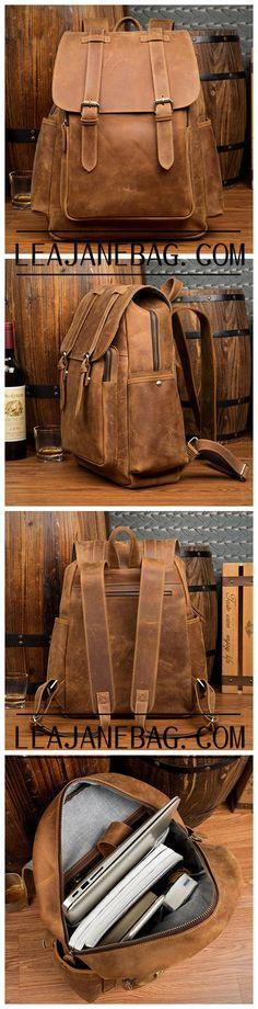 Leather Backpack, Handmade Classic Backpack, Travel Backpack MS158