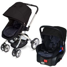 JJ Cole Broadway stroller- has color options, bassinet to seated option on one seat, fits with Chicco keyfit and graco snug ride