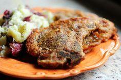 simple pan-fried pork chops.