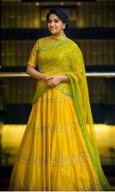 Simply beautiful Half Saree Lehenga, Lehenga Gown, Saree Look, Saree Dress, Lehenga Designs, Saree Blouse Designs, Beautiful Saree, Beautiful Indian Actress, Wedding Dresses For Girls
