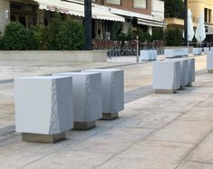 New Blade Bollard, available in Hypergranite and Concrete # streetfurniture # столбик скамья Blade, Concrete, Products, Urban Furniture, Street Furniture, Bowls, Gadget, Cement