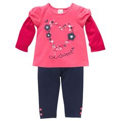 Girls' 2 Piece Top + Legging Set - Rouge Red $9.88 Target clearance lines