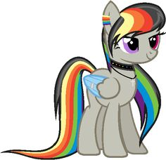 Hey I'm rainbow wing aka rainbow I'm rain bow dashes long lost sister I'm way younger maybe 17 I'm laid back and I think I'm faster then my nephew