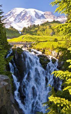 Myrtle Falls, Mt Rainier National Park, Washington, USA