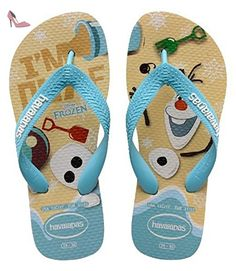 Havaianas Olaf, Bout Ouvert mixte enfant - Multicolore (Sandgrey/Blue 0038), 29/30 EU (27/28 BR) - Chaussures havaianas (*Partner-Link)