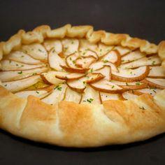 Tarta de pera, puerro y gorgonzola...