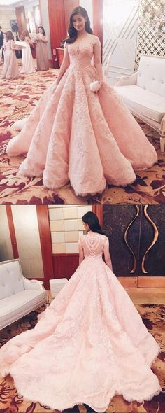 prom dresses,2017 prom dresses,mermaid pink lace prom dresses,gorgeous