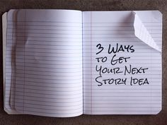 There are a number of tried and true methods to jumpstart your brain and draw those story ideas out. Here are my three go-tos.