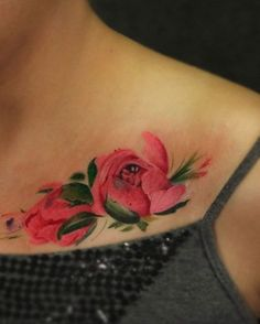 A red rose indicates passion, desire, and love, whereas a burgundy rose spells out the idea of inner harmony. Bone Tattoos, Girl Tattoos, Tattoo Portfolio, Feminine Tattoos, Professional Tattoo, Tattoos For Daughters, Flower Tattoo Designs, Couple Tattoos, Ahmedabad
