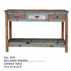 Big Designed Drawer Console Table Rajwadi Furniture Rajwadi