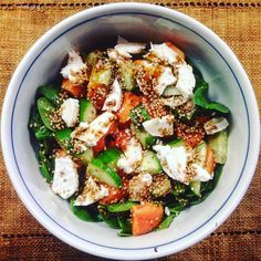 Check out our Surf clothing here! http://ift.tt/1T8lUJC Summer Salad  Papaya pomegranate molasses toasted sesame seeds  #eatwell #livewell #surflife #healthyliving #tropical #fresh #feelgoodontheinside #summer #green