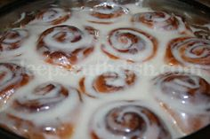 Easy Cheater Cinnamon Rolls from Deep South Dish blog. Cinnamon rolls, semi-homemade and made easy using frozen Rhodes bread dough.