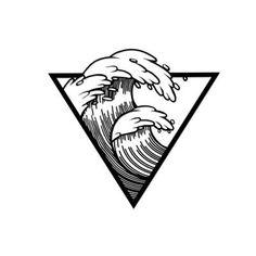 Ada Home Decor Waves Black Modern Metal Wall Art - Metal Art Modern Metal Wall Art, Metal Tree Wall Art, Metal Art, Tattoo Sketches, Tattoo Drawings, Art Sketches, Art Drawings, Wave Drawing, Beach Drawing
