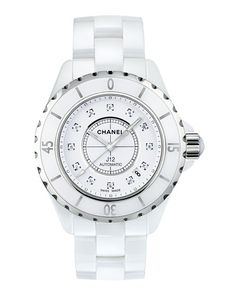 ced0337861c CHANEL J12 White 38MM Ceramic Watch with Diamonds