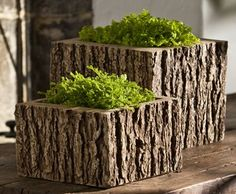 for hypertufa project, use bark as a pattern