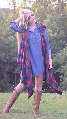 Wrapped in Plaid Vest :: NEW ARRIVALS :: The Blue Door Boutique