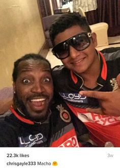 Chris gayle & sarfaraz khan
