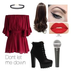 """""""Performance Dont let me down with Daya"""" by denisebrione on Polyvore featuring Chicwish, LULUS, Mehron, Smashbox and Galaxy Audio"""