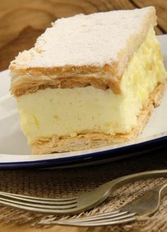Buy custard cake on a plate by Szakaly_DISABLED on PhotoDune. home made custard cake on a plate No Bake Desserts, Dessert Recipes, My Recipes, Cooking Recipes, Custard Cake, Romanian Food, Foods To Eat, Sweet Cakes, Pinterest Recipes