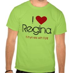 The people of Regina truly love there city. Show that you love Regina with this witty I Love #ReginaShirt.