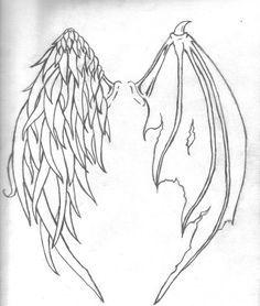 Art Tattoo Ideas: Tattoo Designs by Jessica Rich- Kunst Tattoo Ideen: Tattoo Des., Art Tattoo Ideas: Tattoo Designs by Jessica Rich- Kunst Tattoo Ideen: Tattoo Designs von Jessica Rich Art Tattoo Ideas: Tattoo Designs by Jessica Rich. Wing Tattoo Men, Wing Tattoo Designs, Wing Tattoos, Sleeve Tattoos, Arrow Tattoos, Wie Zeichnet Man Manga, Demon Wings, Bat Wings, Angel Demon Tattoo