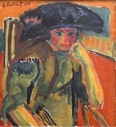 lawrenceleemagnuson: Karl Schmidt-Rottluff (Germany 1884-1976)Bildnis Rosa Schapire (1911)oil on canvasBrücke-Museum, Berlin