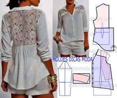 Amazing Sewing Patterns Clone Your Clothes Ideas. Enchanting Sewing Patterns Clone Your Clothes Ideas. Dress Sewing Patterns, Blouse Patterns, Clothing Patterns, Fashion Sewing, Diy Fashion, Ideias Fashion, Diy Clothing, Sewing Clothes, Artisanats Denim