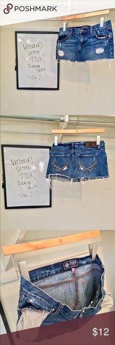 Victoria's Secret Pink Denim Skirt Victoria's Secret Pink Denim Skirt - Size 2 - Plaid Pockets - Sparkle Accent Buttons. PINK Victoria's Secret Skirts Mini