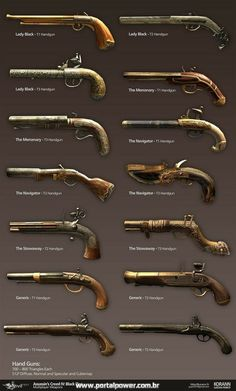 Assassin's Creed IV Black Flag: Multiplayer Weapons, Gaëtan Perrot on… Weapons Guns, Guns And Ammo, Ninja Weapons, Charles Vane, Armas Ninja, Weapon Concept Art, Pirate Life, Pirate Woman, Fantasy Weapons