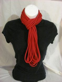 I love these upcycled T scarves.  The deep red is beautiful.