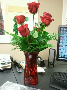My beautiful roses from Brian.
