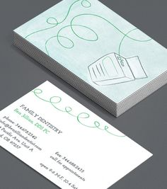 Minty Floss: this Business Cards are perfect partner for dentists and dental nurses, dental hygienists and dental suppliers. #moocards #luxebymoo #businesscard